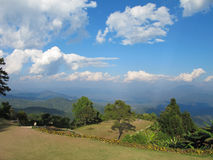 Viewpoint in national park. Tropical forest on blue sky background Royalty Free Stock Photo