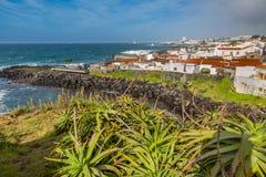 Viewpoint of the ocean coast at Sao Rogue on the Sao Miguel Isla Stock Photos