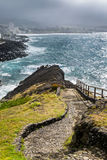 Viewpoint of the ocean coast at Sao Rogue on the Sao Miguel Isla Stock Image