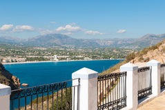 Viewpoint over Altea bay Stock Photo