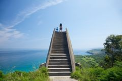 Viewpoint over Asturias coastline. Viewpoint near to Llanes village in Asturias Spain Royalty Free Stock Photography