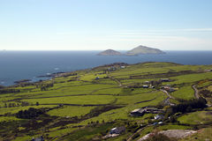 Viewpoint over Ballinskelligs Bay at Derrynane, County Kerry. Ireland Stock Photo