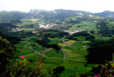Viewpoint over Furnas Royalty Free Stock Photo
