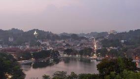 Sunset in Kandy mountains Sri Lanka 4K time-lapse stock video