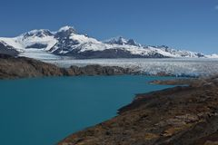 Viewpoint over Upsala Glacier Stock Image
