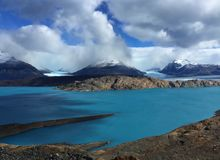 Viewpoint over Upsala Glacier, Patagonia, Argentina stock photo