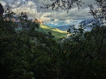 Viewpoint over valley, Blue Mountains royalty free stock photography