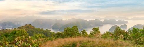 Viewpoint panorama of Halong Bay Stock Image