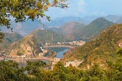 Viewpoint panorama of Halong Bay Royalty Free Stock Photo