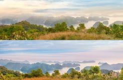 Viewpoint panorama of Halong Bay Royalty Free Stock Images