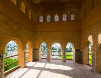 Viewpoint of Partal palace at  Alhambra Stock Photos