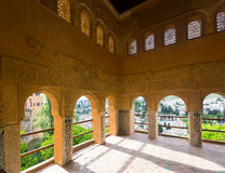 Viewpoint of Partal palace at Royal complex of Alhambra.  Granada Stock Photo