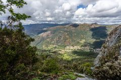 The viewpoint pedra bela in the Peneda Geres National Park, north of Portugal.  royalty free stock photography