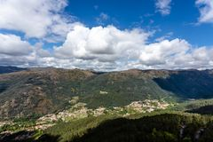 The viewpoint pedra bela in the Peneda Geres National Park, north of Portugal.  stock photos