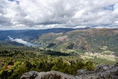 The viewpoint pedra bela in the Peneda Geres National Park, north of Portugal royalty free stock photos