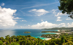 Viewpoint phuket bay city thailand Stock Photo