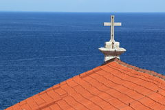Viewpoint in Piran Stock Photo