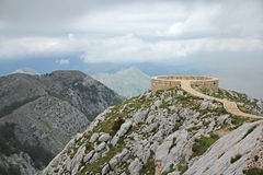 Viewpoint platform on the Lovcen mountain Stock Images