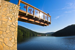 Viewpoint platform over the lake Gozna Stock Photography