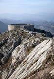 Viewpoint at prince Njegos mausoleum. Viewpoint on Lovcen mountain at prince Njegos mausoleum Stock Image