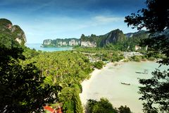 Railay beach krabi thailand Royalty Free Stock Photo