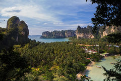 Viewpoint of Railay Beach, Thailand. Royalty Free Stock Photo