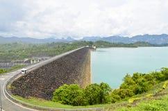 Viewpoint at Ratchaprapha Dam Stock Images