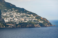 Viewpoint of road side from sorrento town to positano mediterran. Ean sea south italy royalty free stock photos
