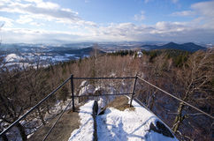 Viewpoint in Rudawy Janowickie mountains, Poland Stock Photography