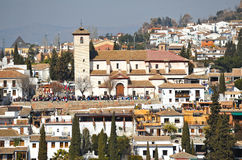 Viewpoint of Saint Nicholas, Albaicin, Granada, Spain Stock Images