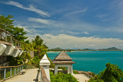 Viewpoint at samui beach Royalty Free Stock Image