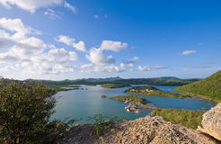 Viewpoint santa martha bay Royalty Free Stock Photo
