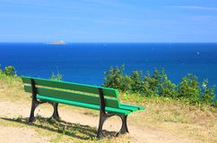 Viewpoint at the sea Stock Photography