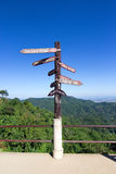 Viewpoint and sign of Doi tung Royalty Free Stock Image