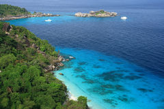 Viewpoint at similan island thailand Royalty Free Stock Photos
