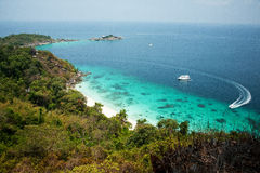 Viewpoint of Similan Islands Stock Photos