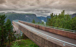 Viewpoint Snovegen at Aurlands fjord Royalty Free Stock Photography