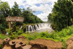 Viewpoint of Tad Pha Souam waterfall Bajeng National Park, Paksa Stock Images