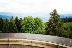 Viewpoint to Forest at the Alps and Pfander Mountain nea Stock Photos