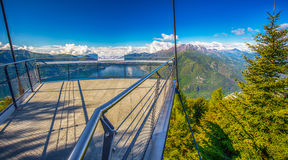 Viewpoint to Locarno city and Lago Maggiore from Cardada mountain, Swiss Alps, Switzerland Stock Photography