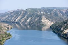 Viewpoint to the river ebro. In Fayon, Zaragoza, Spain royalty free stock photography