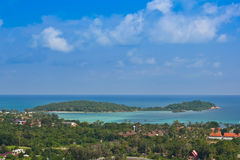 Viewpoint to see Small island Royalty Free Stock Images