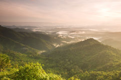 Viewpoint at Tong Pha phoom National Park Thailand Stock Photography
