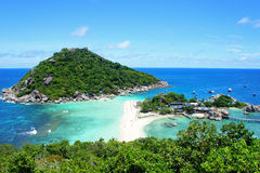 At the viewpoint top of Koh Nang Yuan Stock Photos