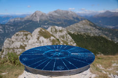 Viewpoint on the top of Monte Resegone. And look on Alps - Dolomiti mountains Stock Photography