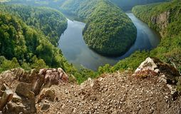 Viewpoint of the Vltava river Royalty Free Stock Photography