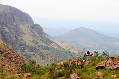 Viewpoint in the Waterberg in Marakele National Park stock images