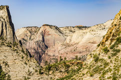 Viewpoint of Zion National Park from Observation point trail Royalty Free Stock Images