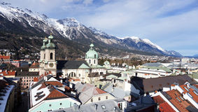 Viewpoints in Innsbruck Royalty Free Stock Photos
