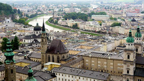 Viewpoints of Salzburg Old Town city Royalty Free Stock Photography